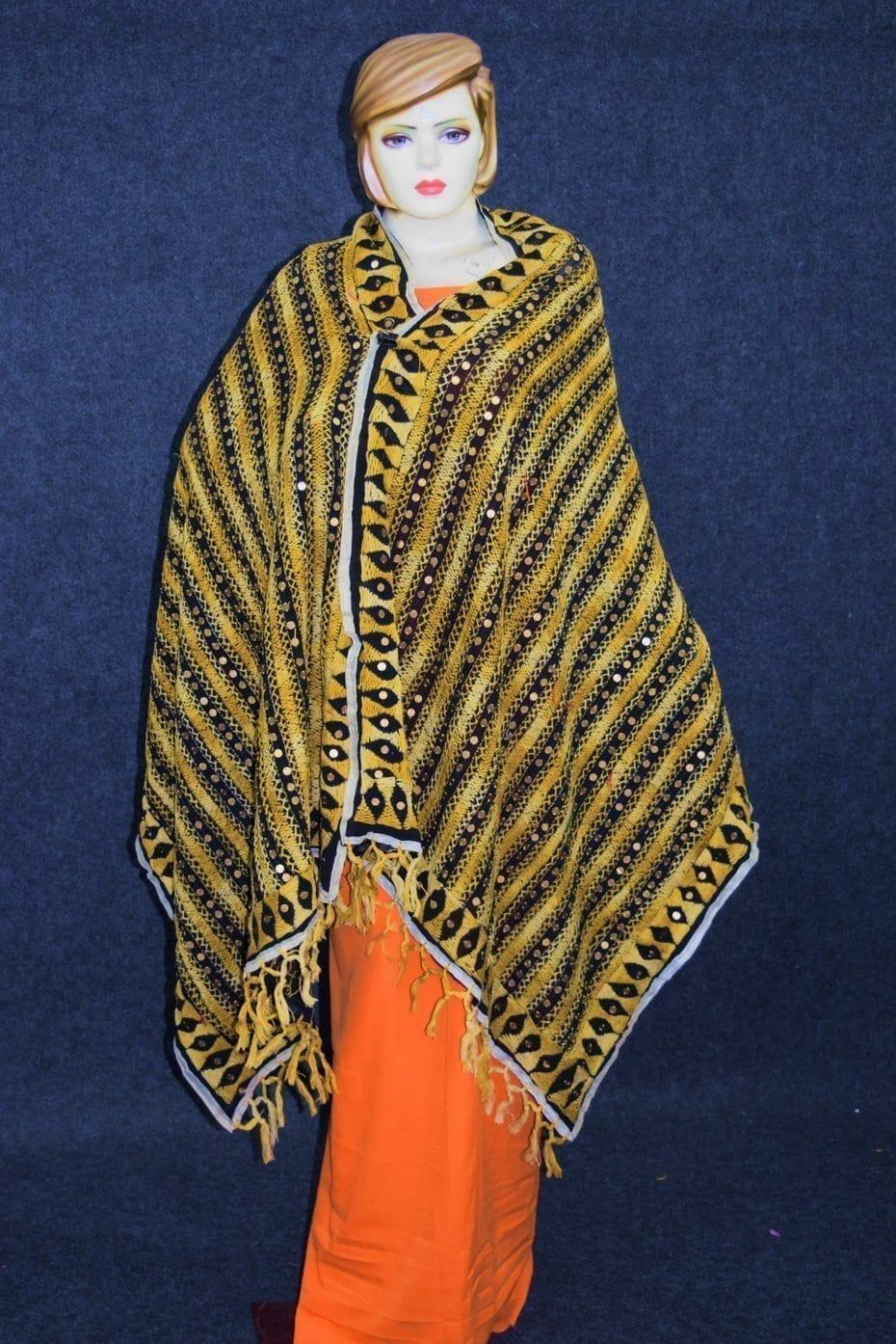 PHULKARI Dupatta Hand Embroidered Party wear Georgette Chunni D0907 1