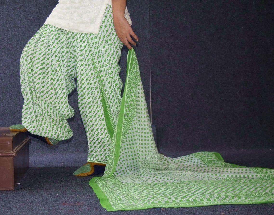Pure Cotton Printed Patiala Salwar with Print cotton Dupatta PSD230 1