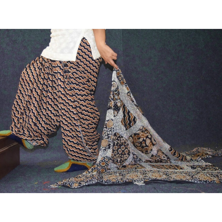 Pure Cotton Printed Patiala Salwar with Print cotton Dupatta PSD235