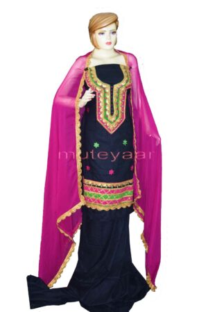 Designer Cotton Salwar Kameez Embroidered Boutique Suit CHIFFON Dupatta RM312