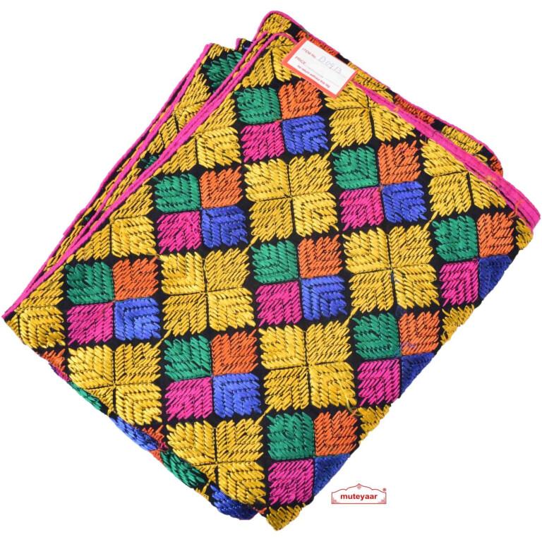 Multicolour Embroidered Phulkari Bagh Dupatta D0913