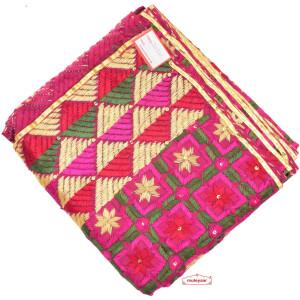 100% Hand Work Phulkari Dupatta Cotton Baagh D0920