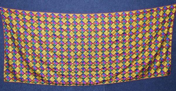 Multicolour M/C Phulkari Bagh Embroidered Party Wear Dupatta D0913