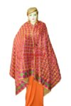 Phulkari Bagh Hand Embroidered Party Wear Cotton Dupatta D0919