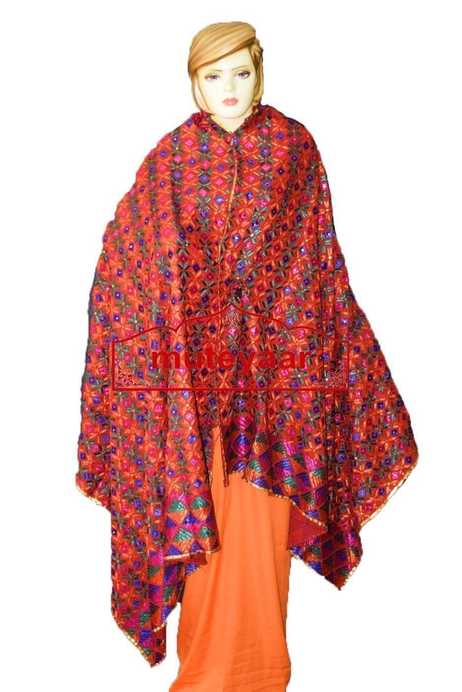 Hand Phulkari Cotton Bagh Dupatta D0923 2
