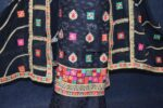 Black Party Wear Self Viscose Crepe Phulkari Salwar Suit Pure Chinon Dupatta F0760