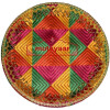 Shagun Thali / Shagan Thaal for Punjabi Wedding - Phulkari Embroidered Plate