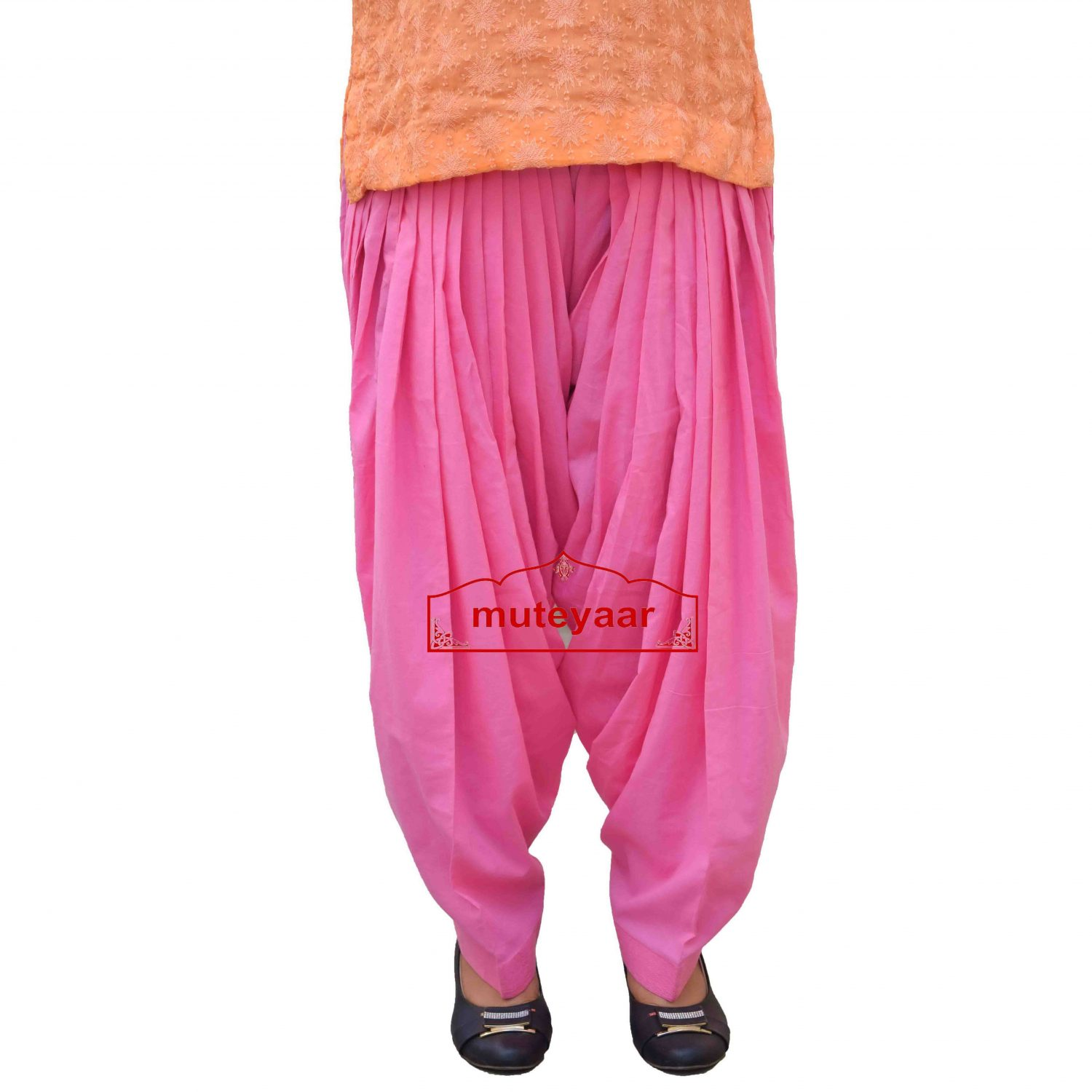 Pure Cotton Semi Patiala Pants 3MPC - All colours & Sizes Available 1