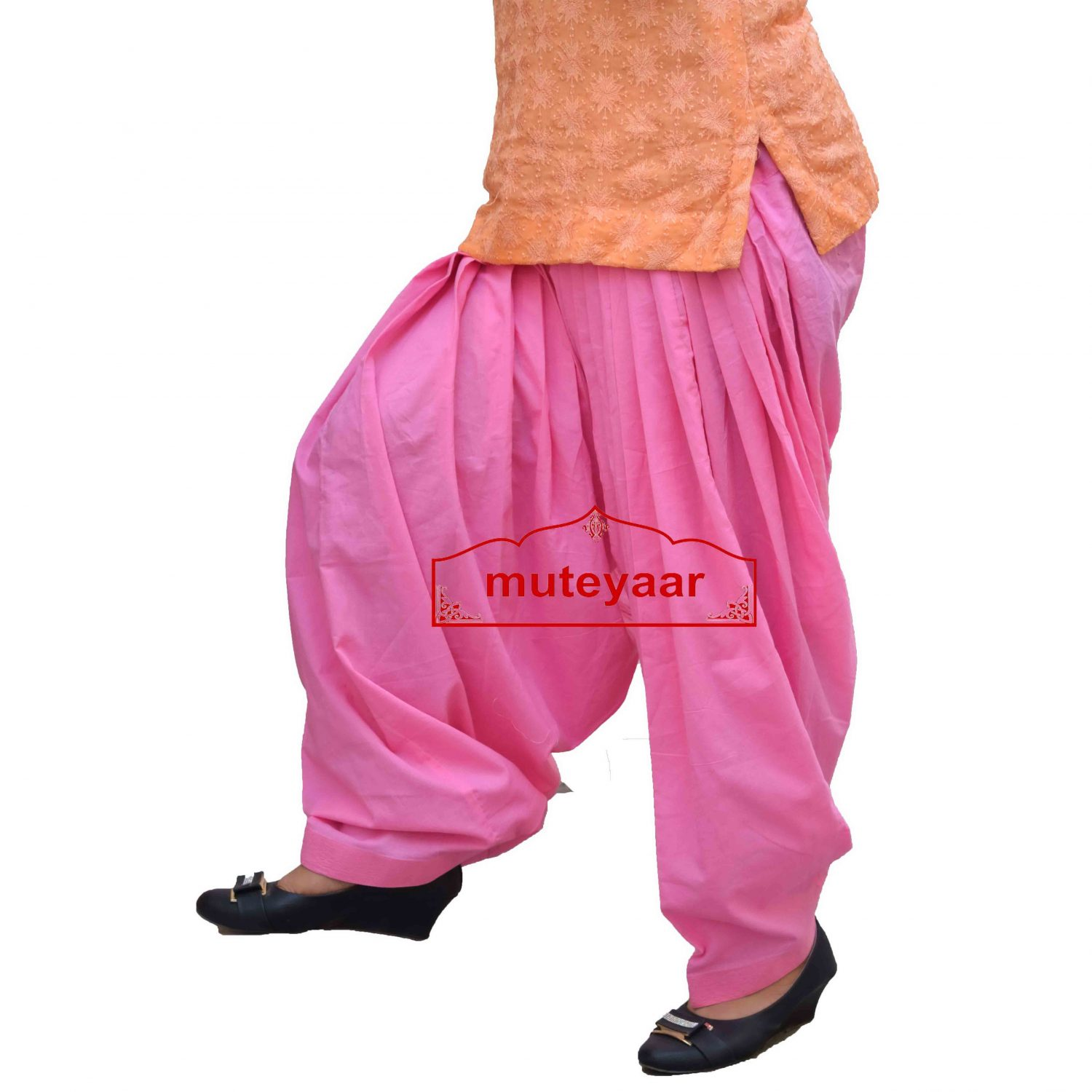 Pure Cotton Semi Patiala Pants 3MPC - All colours & Sizes Available 3