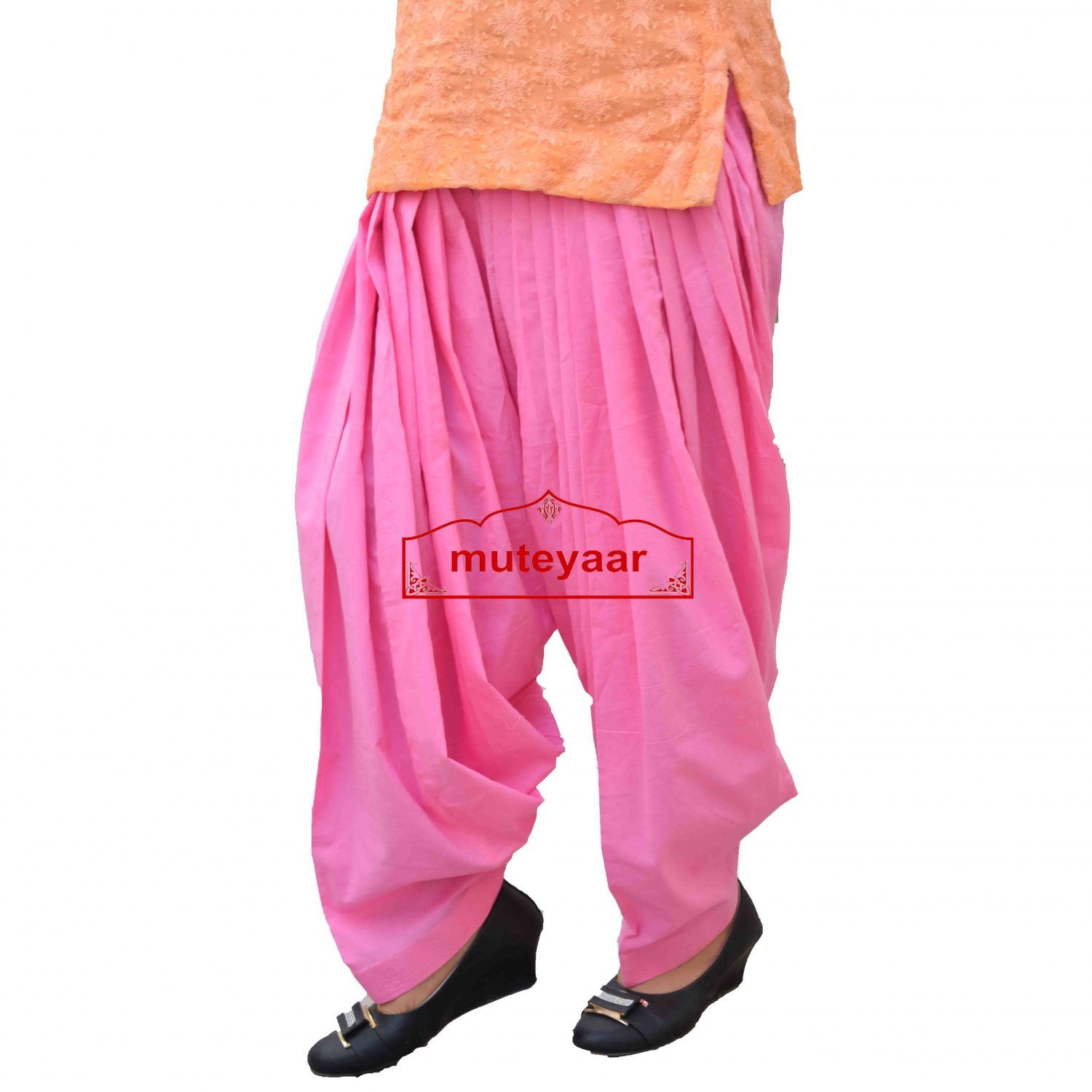 Pure Cotton Semi Patiala Pants 3MPC - All colours & Sizes Available 2