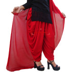 Crepe Dhoti Salwar with Chiffon Dupatta – All colours/sizes available