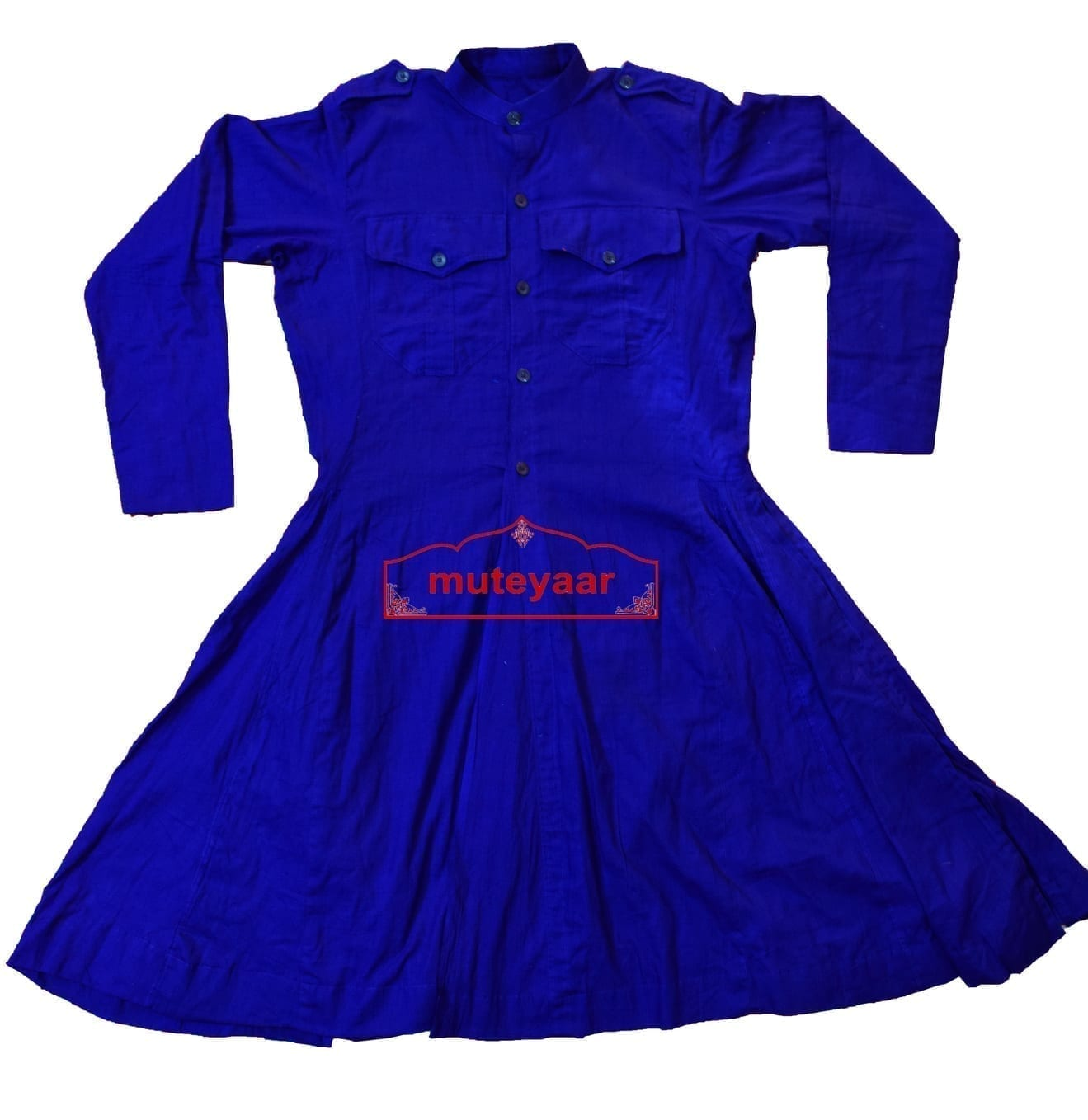 Blue Sikh Bana Chola for Nihang Singh - All sizes available Custom Stitching 1