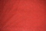 Small Polka Dots Red COTTON PRINTED FABRIC PC307