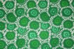 Green White COTTON PRINTED FABRIC PC308