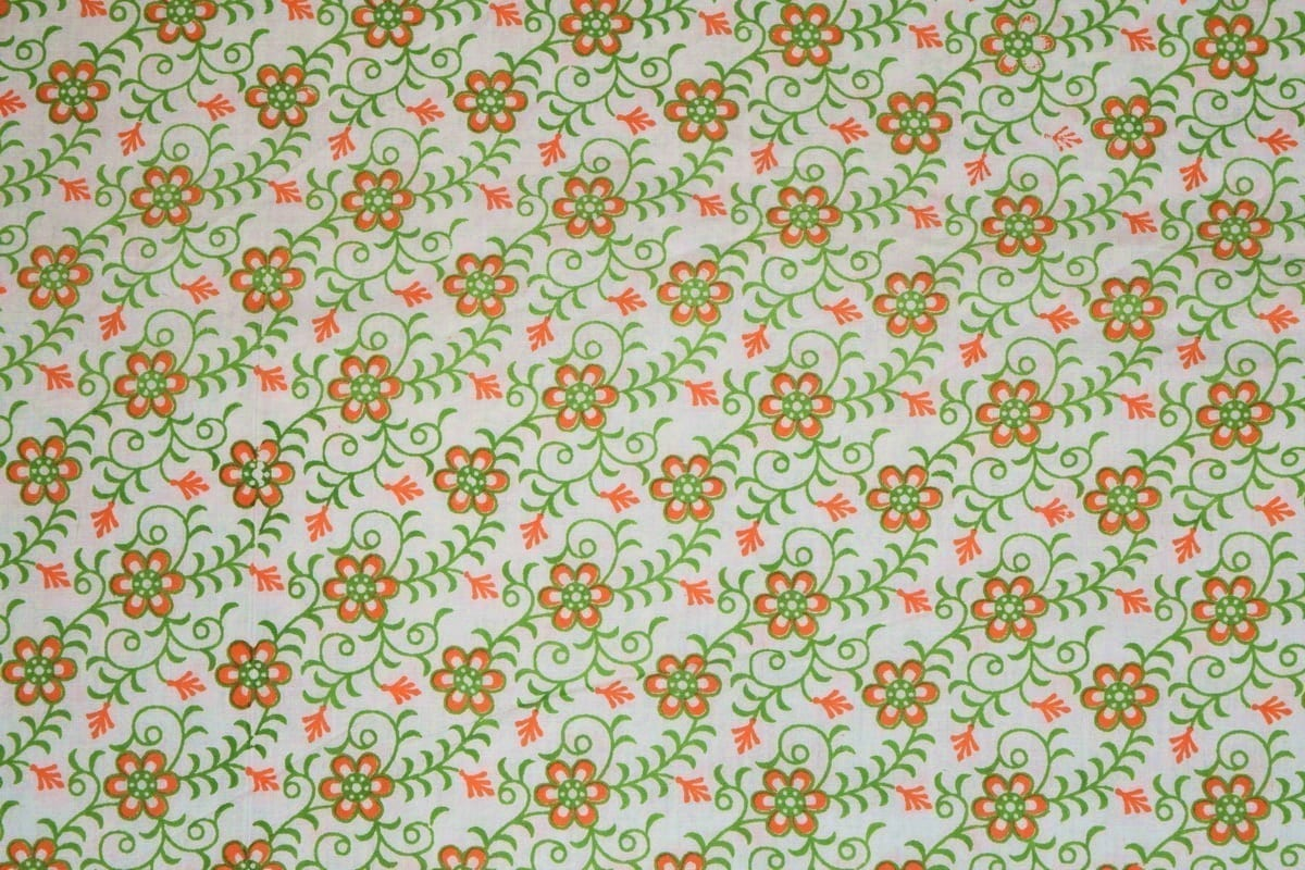 Small Flowers on White COTTON PRINTED FABRIC PC314 1