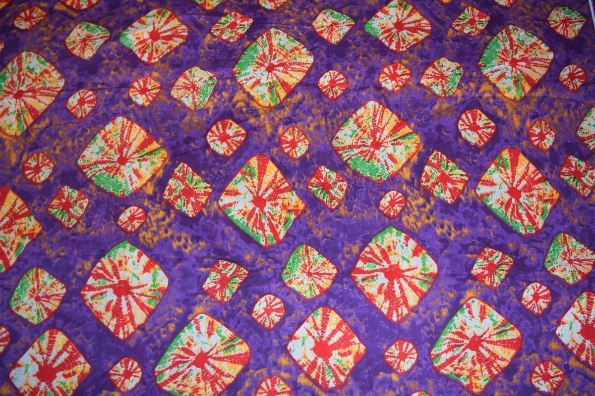 Purple Bandhani Design COTTON PRINTED FABRIC PC317 1