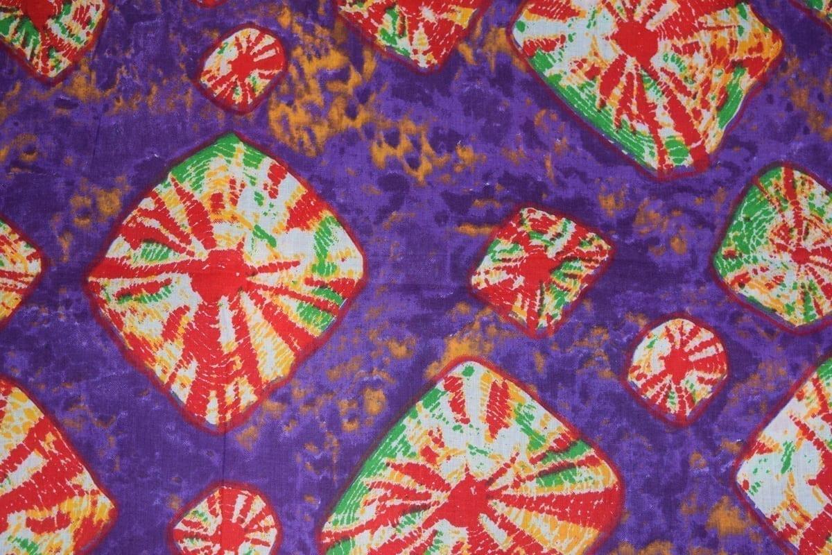 Purple Bandhani Design COTTON PRINTED FABRIC PC317 2