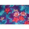 Purple Leaves & Flowers Design COTTON PRINTED FABRIC (per meter price) PC319