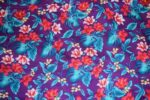 Purple Leaves & Flowers Design COTTON PRINTED FABRIC PC319
