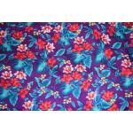 Purple Leaves & Flowers Design COTTON PRINTED FABRIC PC319