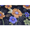 Black Floral Design COTTON PRINTED FABRIC (per meter price) PC322