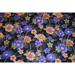 Black Floral Design COTTON PRINTED FABRIC PC322