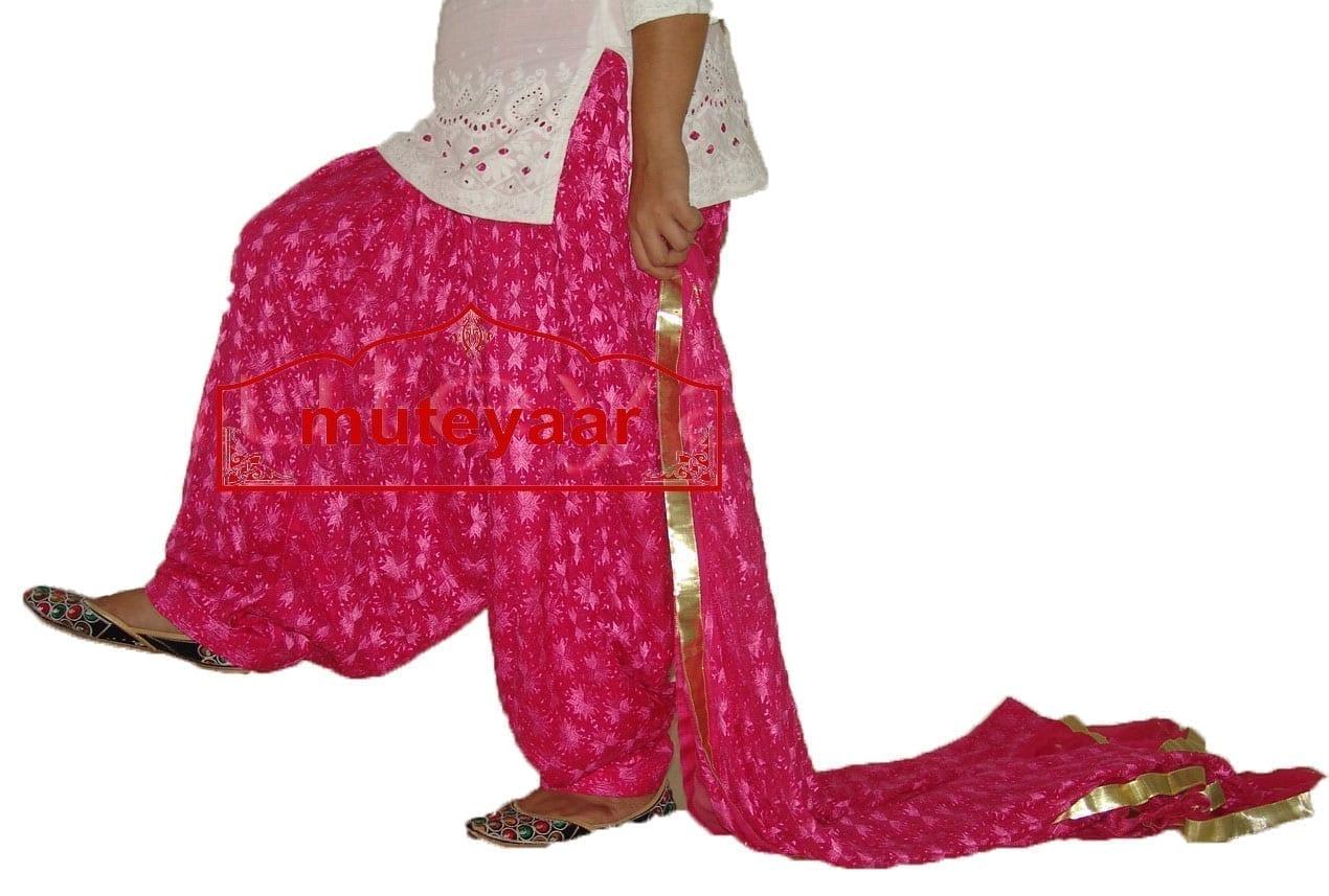 Hot Pink Phulkari Salwar Dupatta PHS01 1