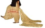 Golden Fawn PHULKARI Embroidered Patiala Salwar with matching Dupatta PHS17
