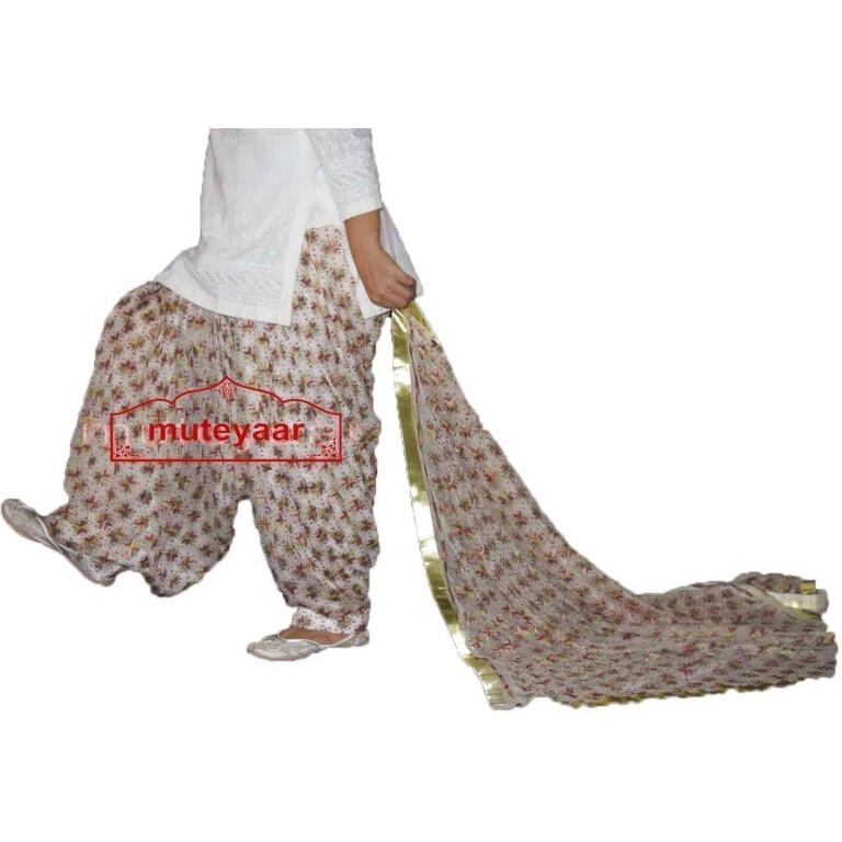 Custom Stitched PHULKARI Patiala Salwar with matching Dupatta PHS24