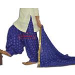 Royal Blue PHULKARI Embroidered Patiala Salwar with matching Dupatta PHS26