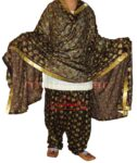 Black Multicolour PHULKARI Patiala Salwar with matching Dupatta PHS27