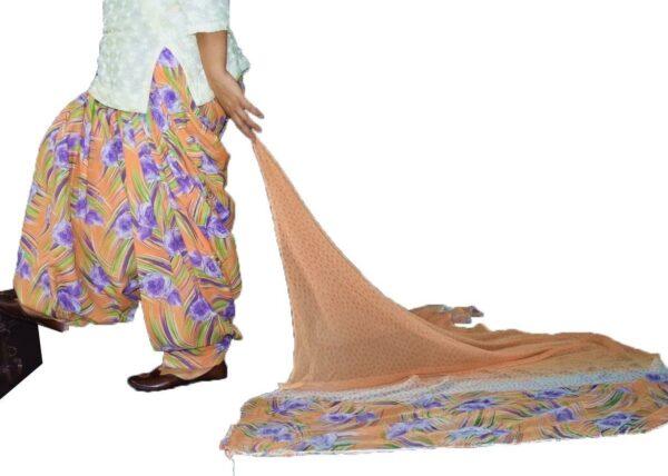 FULL Patiala Salwar Blended Cotton with Chiffon Printed Dupatta PSD220