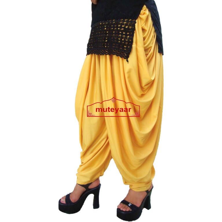 Yellow Dhoti Salwar Pants