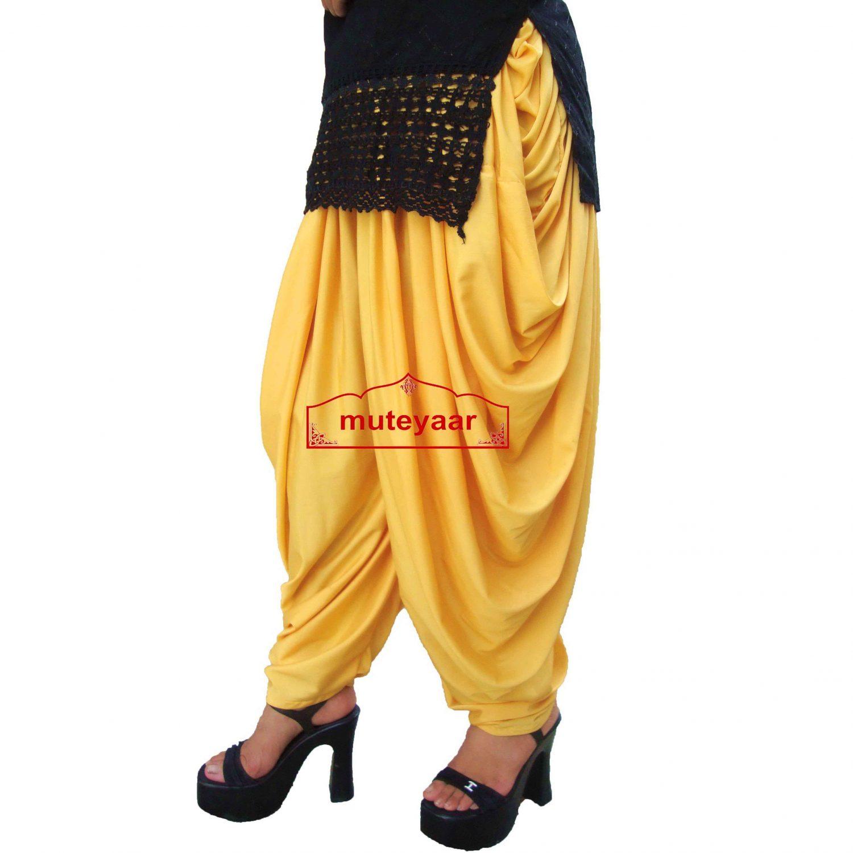 Yellow Dhoti Salwar custom made Boogie Woogie Pants 1