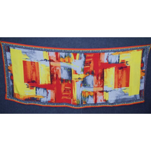 DIGITAL PRINT multicolour SEMI CHINON Dupatta Chunni DP019