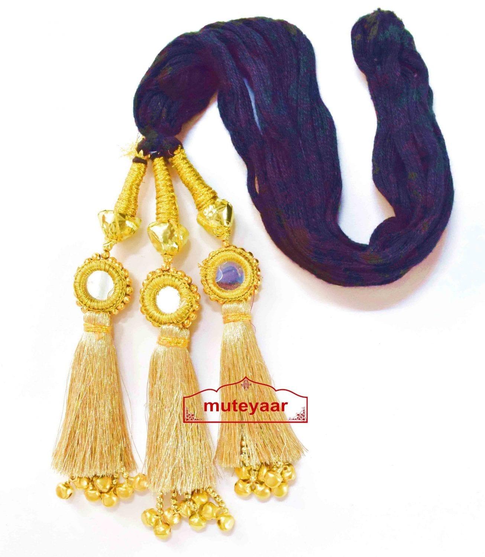 Golden Kids Paranda Parandi with Mirror & Ghungroo Work 1