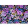Hosiery Fabric 65 inch width Purple Flowers Print (per meter price)  HF002