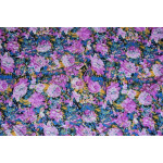 Hosiery Fabric 65 inch width Purple Flowers Print HF002