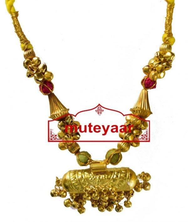 BIG JUGNI traditional golden necklace haar for Giddha Bhangra