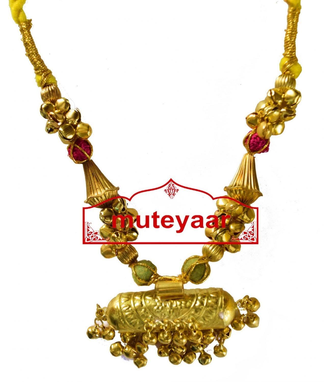 BIG JUGNI traditional golden necklace haar for Giddha Bhangra 2