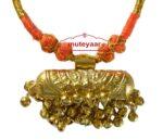 JUGNI traditional golden necklace haar for Giddha Bhangra