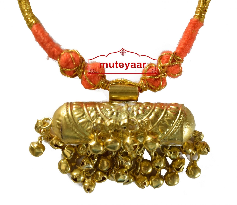 JUGNI traditional golden necklace haar for Giddha Bhangra 2