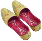 SUCHA TILLA Golden Punjabi Jutti Hand Made Traditional Khussa PJ801