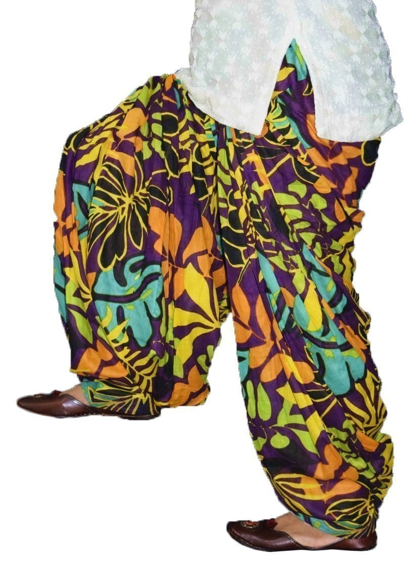 Printed Full Patiala Salwar Limited Edition 100% Pure Cotton Shalwar PPS233 1