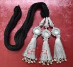 SILVER Kids Paranda Parandi with Mirror & Ghungroo Work
