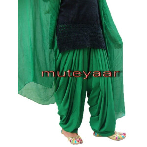 Green Patiala Salvaar/shalwaar + Matching Dupatta  from Patiala City