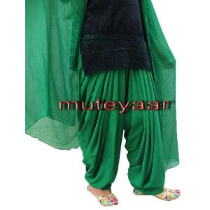 Green Patiala Salvaar/shalwaar + Matching Dupatta  from Patiala City