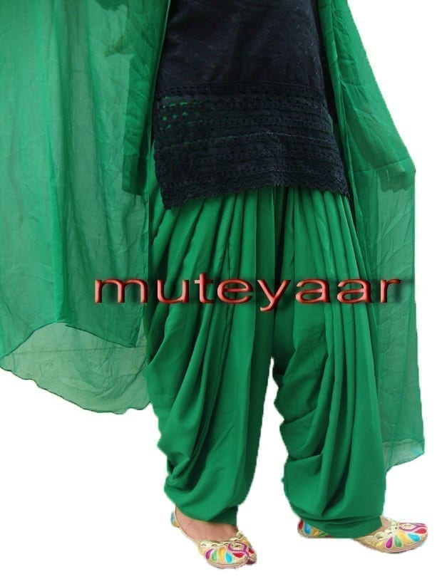 Green Patiala Salvaar/shalwaar + Matching Dupatta  from Patiala City 1