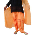 Peach Patiala Salwar with Matching Dupatta  from Patiala City