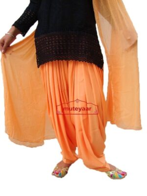 Peach Patiala Salwar with Matching Dupatta  from Patiala City